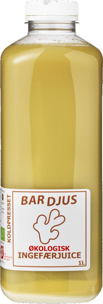 Bardjus frossen økologisk ingefærjuice