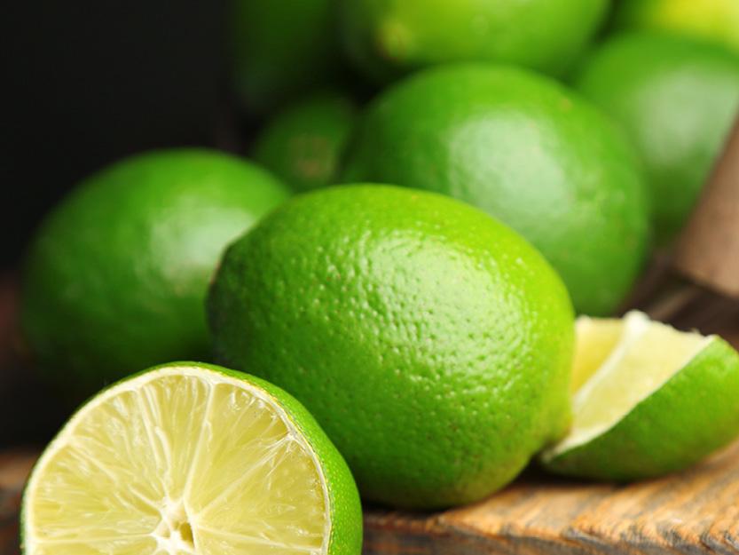 Friskpresset frossen limejuice